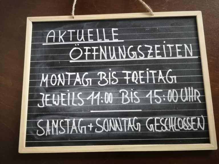Aktuelle Corona-Öffnungszeiten des Ladencafé Röstoff in Neubiberg