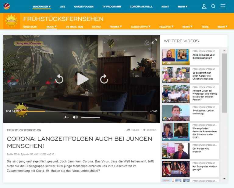 Ladencafé Röstoff aus Neubiberg im Sat1 Frühstücksfernsehen